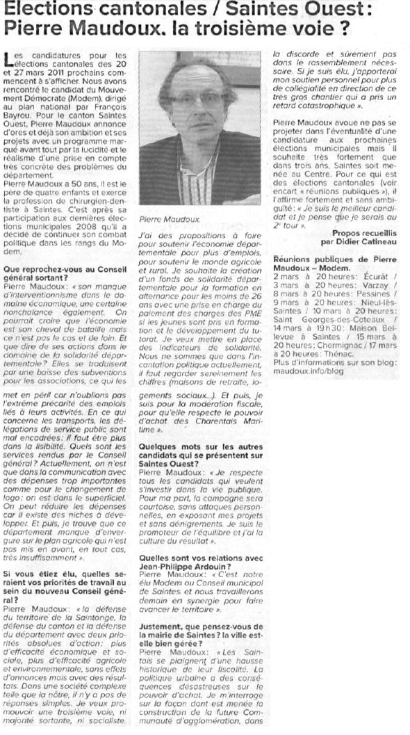 Article Haute-Saintonge
