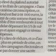 Reproduction du communiqué de presse de Pierre Maudoux publié dans Sud Ouestà propos des frais de campagne électorale. Le candidat MoDem propose un plafond beaucoup plus bas pour les dépenses […]