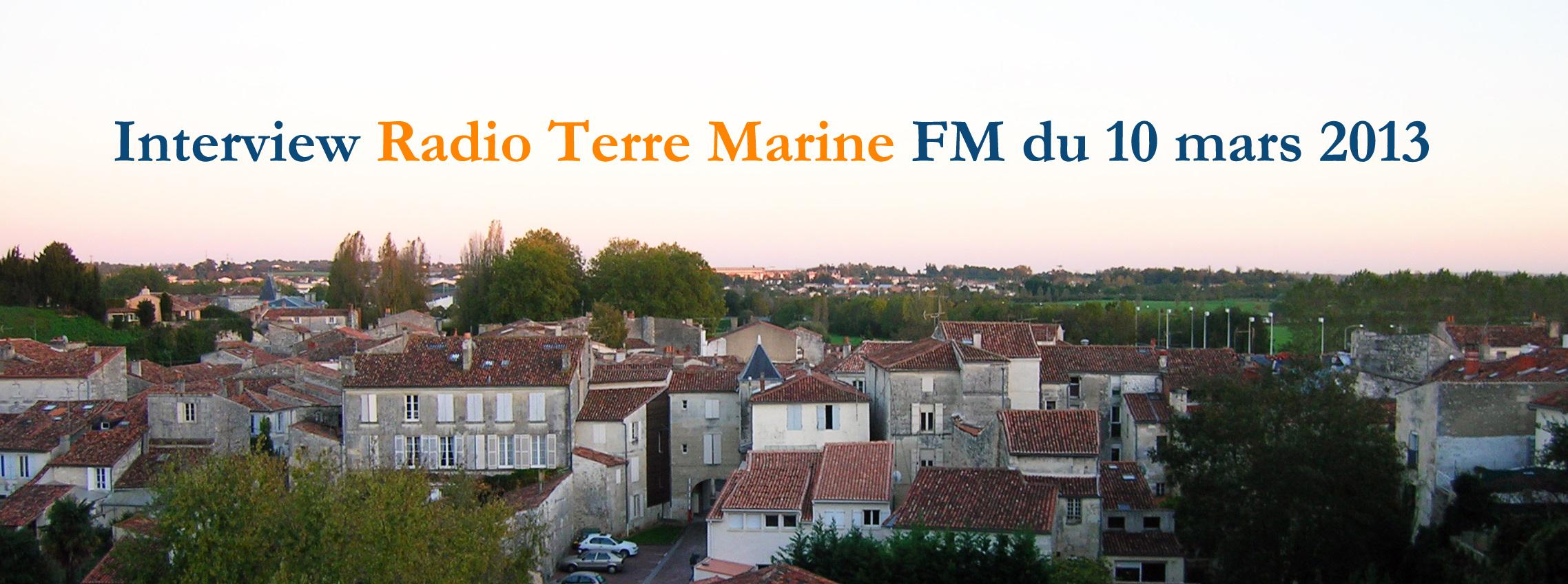 Interview Radio Terre Marine FM du 10 mars