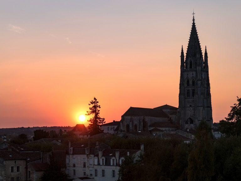 Coucher de soleil sur la basilique